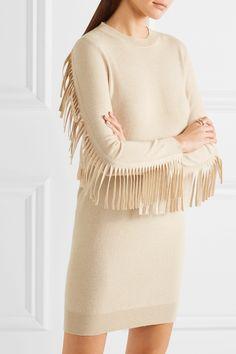 MM6 Maison Margiela | Fringed stretch-knit dress | NET-A-PORTER.COM