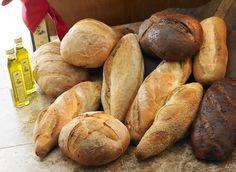 varieties of bread and oil