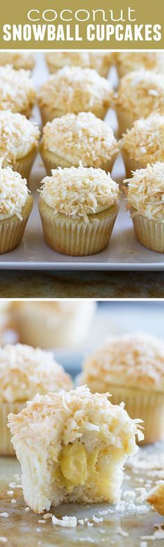 True coconut lovers will appreciate these Coconut Snowball Cupcakes! Coconut cupcakes are filled with a coconut pastry cream and then frosted with a coconut buttercream. Top them off with toasted coconut for the ultimate coconut treat!