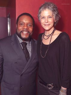 """Chad Coleman & Melissa McBride at """"The Walking Dead"""" ATAS FYC event at the Egyptian Theater on Monday, April 20, 2015 in Los Angeles"""