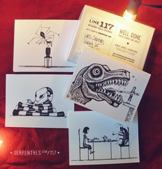 LAND CREATURES! boxed notes featuring artwork by @serpenthes for @line117paper