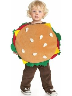 limited edition halloween hamburger costume toddler old navy kid idea creative hungry food lunch dress up play - Halloween Food Costume