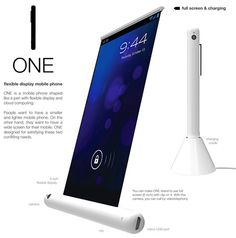CES 2013 Innovative Samsung ONE Prototype Smartphone Rolls Up Like a Pen, Boasts Flexible Display