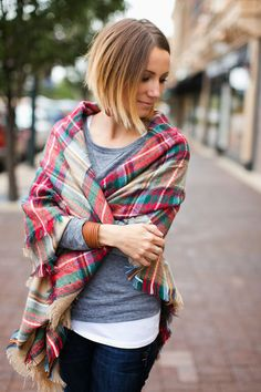 Facebook Twitter Pinterest Email Love This Flipboard Even though I'm in Florida I'm totally aware that it's cooling down around the country, as I'm seeing a lot more layers and scarves pop up in my blog reads and Instagram feeds. One of my favorite trends so far is this plaid blanket scarf. A scarf is the perfect layering tool, as you can wear it with everything froma light-weight tee to layered with sweaters and jackets for added warmth. I absolutely love the idea of an oversized…