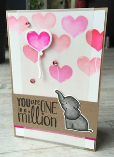 Valentine/ Birthday card made with Zig brush markers and the Ellie ser from Avery Elle