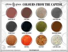 ::gasp:: The Hunger Games nail colours from China Glaze!!!!!!!!!