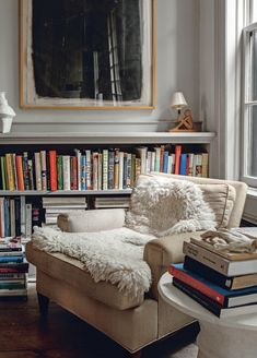 Bookish home goals from Bibliostyle by Nina Freudenberger Home Library Design, House Design, Small Home Design, Cozy Home Library, Home Library Rooms, Library Bedroom, Small Home Libraries, Home Living Room, Living Spaces