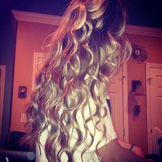 perfect wavy hair