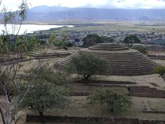 Pirâmide circular de Guachimontones, tradição Teuchitlán, em Jalisco, México, 300 a.C.