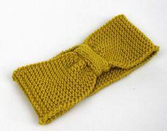 Stirnbänder - Stirnband Ohrenwärmer Haarband 100% merino gelb - ein Designerstück von lucieandcate bei DaWanda Knitted Hats, Etsy, Knitting, Fashion, Yellow, Moda, Tricot, Fashion Styles, Breien
