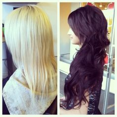 Before and After transformation using Redken color. By: Nicolette Redinger @ Poppy an Eco-Friendly Salon and Spa. Pullman WA http://www.salonpoppy.com