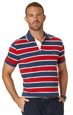 Men's Multistripe Pique Polo - Nautica.com