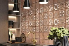Explore our selection of Kitchen wall tiles from Ceramic Tiles category by Kajaria which are available in all patterns, shapes and sizes. These Luxury Collection tiles will make your kitchen look more stylish Wall Tiles Design, Room Wall Tiles, Kitchen Tiles, Tiles, Kitchen Room Design, Stone Design, Tile Design, Wall Tiles, Kitchen Wall Tiles