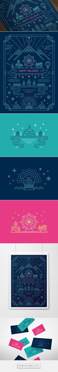 2014 Holiday Greeting Card on Behance by Yiwen Lu