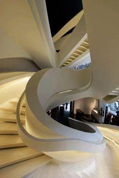 staircase at Armani 5th Ave  store by massimilano doriana fuksas architects