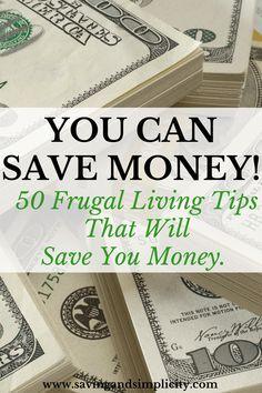 50 frugal living tips
