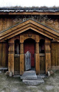 Norwegian Door - Anette Nordstrom (via Interiørmagasinet) Notice the grass growing on the roof?
