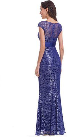 8229da56a3e3 Ever Pretty Women's Floor Length Mermaid Long Lace Elegant Formal Evening  Dresses Coffee 22UK: Amazon.co.uk: Clothing