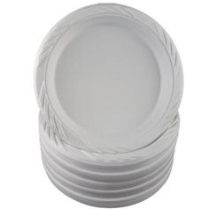 For cocktail hour - Nach Bar 9\  Economy Flexible White Disposable Plates  sc 1 st  Pinterest & Amazon.com: Member\u0027s Mark 6 1/4 in. Clear Plastic Plates - 70-Count ...