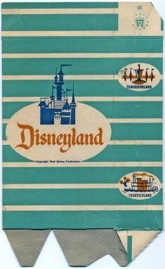 1957 Disneyland Popcorn Box - yay disney!
