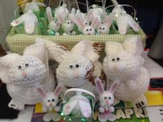 Cute bunnies just arrived from local artist Cyndy J!