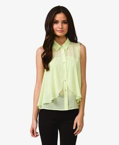 Flounced Georgette Top | FOREVER 21 - 2021839298
