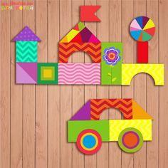 Настольная развивающая игра - конструктор для детей «Фантазия»
