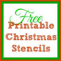 Free Printable Christmas Stencils – Christmas Tree Templates & Santa Claus Patterns -