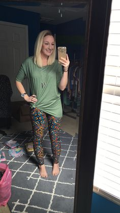 Lularoe Irma and fun black colorful leggings