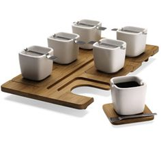 I WANT THIS! (Kookii. Coffee set in bamboo and porcelain. Fellina Chok Cham.)