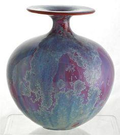 Tony Laverick, Crystalline Glaze Studio Pottery Vase