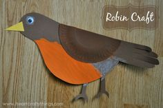 Robin Bird Crafts Paper Plates Ideas For 2019 Peacock Crafts, Bird Crafts, Animal Crafts, Easy Crafts, Paper Plate Crafts, Paper Plates, Spring Crafts For Kids, Art For Kids, Spring Projects