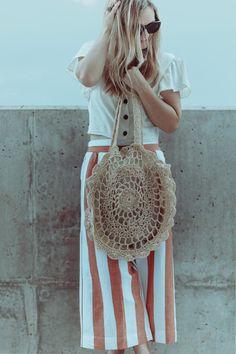 Striped Pants + Crop