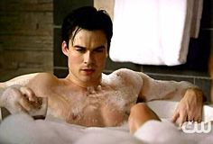 Ian Somerhalder as Damon Salvatore - The Vampire Diaries Vampire Diaries Stefan, Vampire Diaries The Originals, Damon Salvatore, Ian Somerhalder, Teen Wolf, Vampires, The Rules Of Attraction, Crazy Night, Vampire Dairies