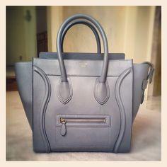 Grey Celine luggage tote