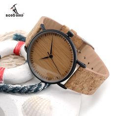 BOBO BIRD Wooden Dial Watches leather Strap Unique Wood Watch for Ladies Fashion Watches for Men and Women E19