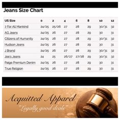 Rock Revival Jeans Size Chart  My Style    Rock