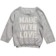 ZADIG & VOLTAIRE- GREY WOOL-CASHMERE 'MADE WITH LOVE' JUMPER