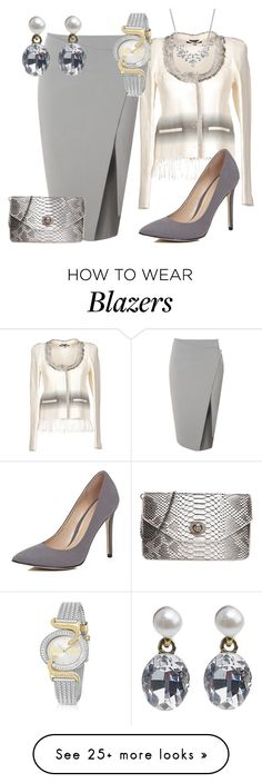"""Silver Cloud"" by pks814 on Polyvore featuring Glamorous, Patrizia Pepe, Givenchy, Just Cavalli and River Island"