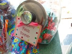 candy favors ... Strawberry Fields Forever
