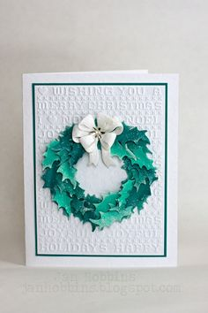 Hi Everyone, Jan Hobbins  here with a Christmas card to share with you.  I hope I'm not the only one who still hasn't finished making Chri...