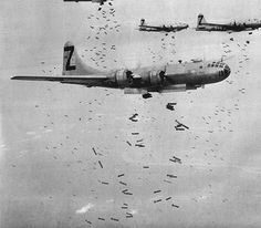 B-29 Superfortress dropping bombs - my dad could be in this picture somewhere. He was Z 21