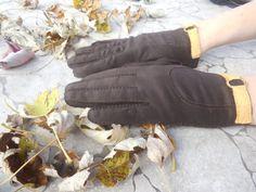 Vintage Women's  Gloves Brown Fownes Royale by VintageElations