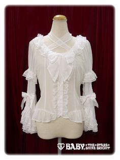 Chiffon Princess Dress Blouse - off white