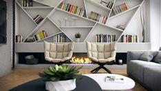 Cette bibliothèque est spectaculaire, asymétrique et sculpturale!