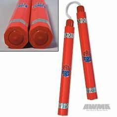 "ProForce 12"" Practice/Demo Ultra Foam Octagon Nunchaku - Red by AWMA. $17.19. Octagon shape makes for a sure grip. Durafoam padding keeps you safe.12"" long x 1-3/8"" diameter x 4-1/2"" nylon cord."