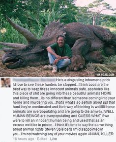 steven spielberg after hunting a triceratops ;)