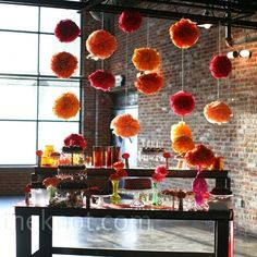 color backdrop decorations like this for dessert table, ceremony, gift table?