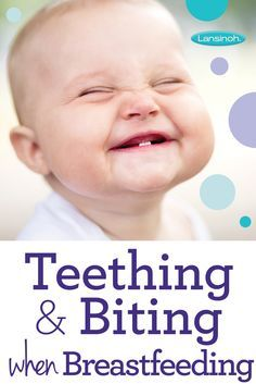 How to deal with teething and biting when #breastfeeding.