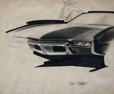 Pontiac Sketch from the 60's  by Bill Porter